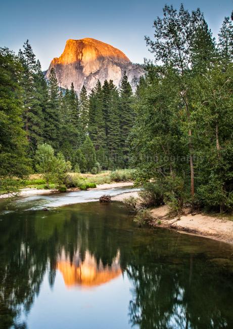 Sunset on Half Dome - Yosemite NP, USA - 2010